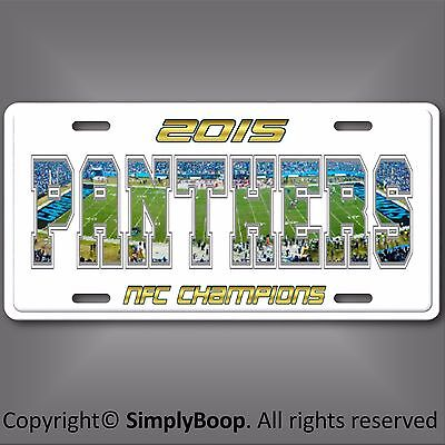 "Carolina PANTHERS NFL Football Team Novelty Vanity License Plate Tag 6""x12"" New"