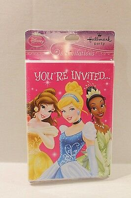 Hallmark Disney Princess Birthday Party Invitations & Envelopes Package of 8