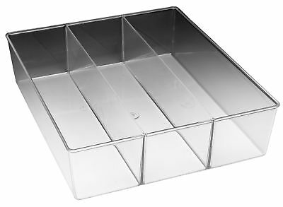 Whitmor 6789-3067 3 Section Small Clear Drawer Organizer,No 6789-3067