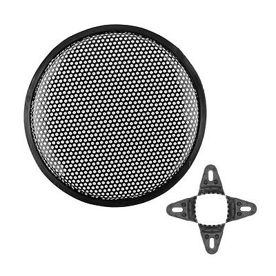 "10"" Metal Car Audio Sound Horn Klaxon SubWoofer Grill Cover Guard Black New"