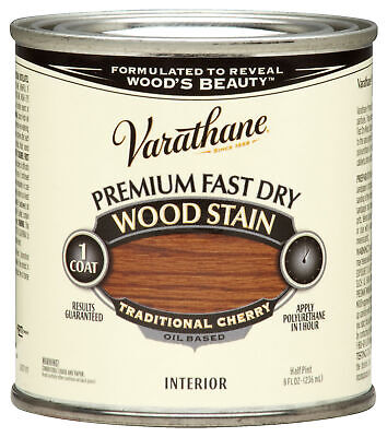 Varathane 262027 1/2 Pint Traditional Cherry Fast Dry Wood Stain,No 262027