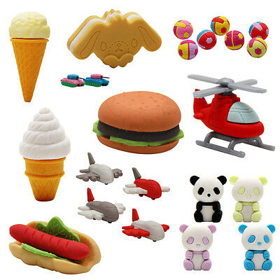 Eraser Rubber Kids Toy Party Favour Loot Lolly Bag Filler Various Designs