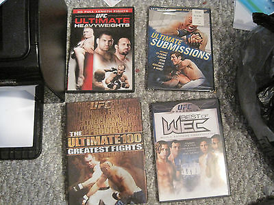 UFC DVD Lot: WEC, Ulimate Submissions (sealed), Heavyweights, Ultimate 100