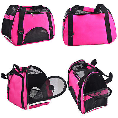Pet Carrier Soft Sided Puppy Cat Dog Comforter Travel Tote Bag Airline Approved