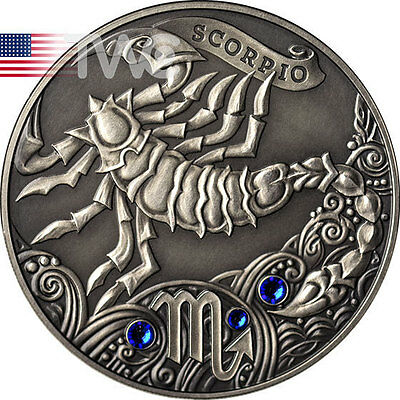Belarus 2013 20 rubles Signs of the zodiac Scorpio Antique finish Silver Coin