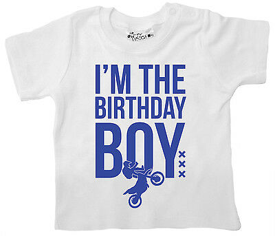 """Dirty Fingers Baby T-Shirt """"I'm Birthday Boy"""" First Second Third 1st 2nd 3rd"""