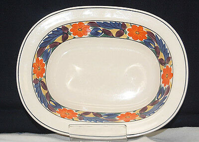 Adams China Titian Ware Floral Brocade 8'' Oval Vegetable Serving Bowl [S6301]