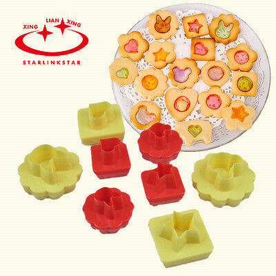 8Pcs/set Double-sided Cut Cookie Biscuit Cheese Cutter Mold Cake Decorating Tool