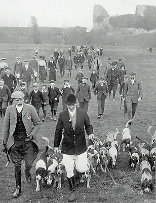Hailsham Harriers Meet Fox Hunting Pevensey Castle 1907 Photo Article 9718