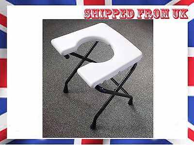 Foldable Commode Portable Travel Potty Chair Toilet Seat NON SLIP Disability AID