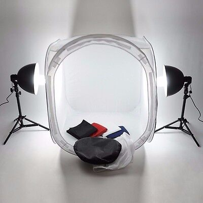 "32"" 80cm Photography Studio Light Tent Backdrop Softbox Rounded Cube Kit"