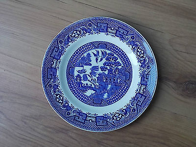 Vintage 1940s/1950s Swinnertons Blue & White China Tea Plate - Old Willow - VGC
