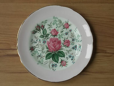 Vintage 1950s Royal Sutherland Fine Bone China Tea Plate Pink Rose VGC