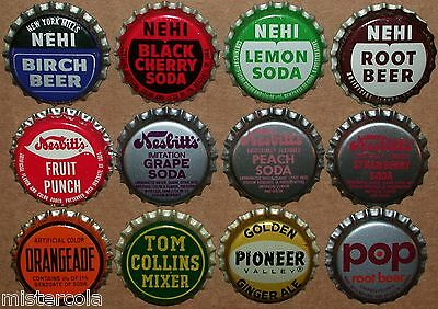 Vintage soda pop bottle caps LOT OF 1000 unused new old stock over 100 different