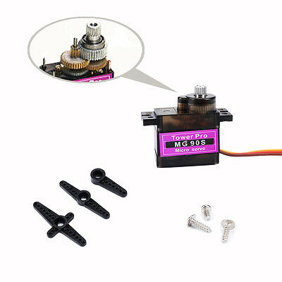 eFan - 10 Pcs MG90S Micro Metal Gear 9g Servo for RC Plane Helicopter Boat Car
