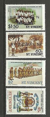 ST VINCENT1986 50th ANNIV OF CADET FORCE OPT 4v MNH
