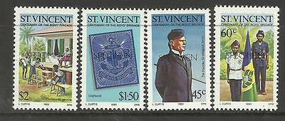 ST VINCENT1983 CENTENARY OF BOYS BRIGADE OPT 4v MNH