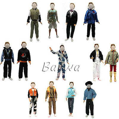 10 PCS = 5 Sets Casual Suites & Pants Clothes for Barbie Boy Friend Ken Doll