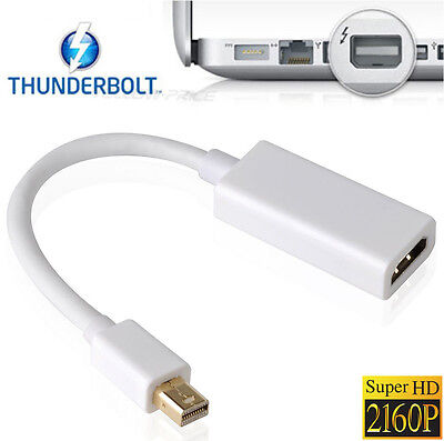 For Apple Mac Mini Laptop 4K@30Hz Thunderbolt Mini Displayport to HDMI Adapter