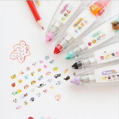 DIY Craft Gift Cute Push Correction Tape Pen Decoration Student Stationery FW