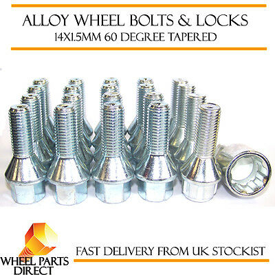 Alloy Wheel Bolts 14x1.5 Nuts Tapered for VW Transporter T5 03-15 16