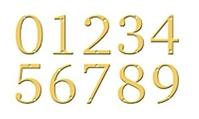 """Polished Brass 5"""" House Numbers"""