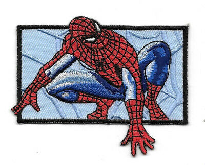 The Amazing Spider-Man Crouched Figure Embroidered Die Cut Patch NEW UNUSED