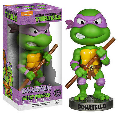 DONATELLO Teenage Ninja Turtles Funko Wacky Wobbler Bobble Wackelkopf 15cm OVP