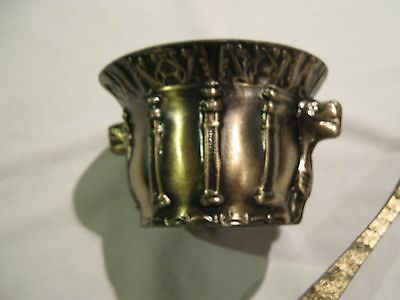 Brass Mortar And Pestle, Animal Heads Coming Out At Sides