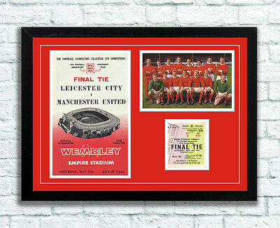 Manchester United 1963 Memorabilia Display Poster Best Law Charlton UNFRAMED