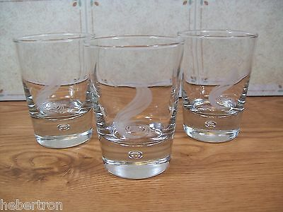 3  Collectable Bailey's  on The Rocks Highball glasses