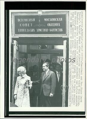 1972 Richard Nixon Attend Services in Moscow Original New Service Photo