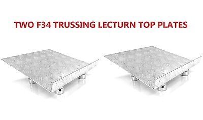 Two (2) Global Truss F34 Fitment Trussing Lectern Top Plates Fits Global Truss