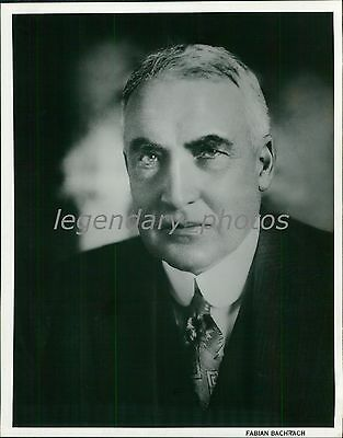 1960's Warren Harding Portrait by Fabian Bachrach Original Photo