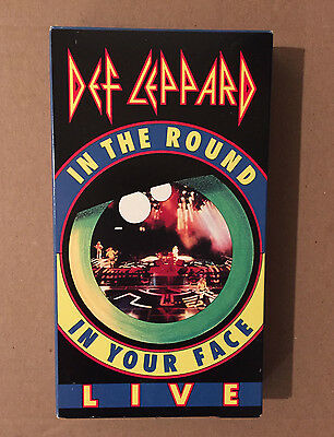 Def Leppard In The Round In Your Face LIVE VHS! Excellent condition. 1989