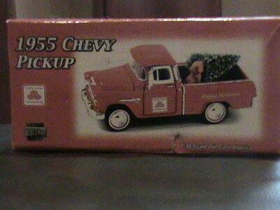 1:38 1955 Chevy Pickup,  Happy Holidays Dog and Tree, Crown Premuims