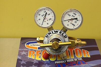 Uniweld Heavy Duty Two Stage Compressed Gas Air Regulator Valve Gauge