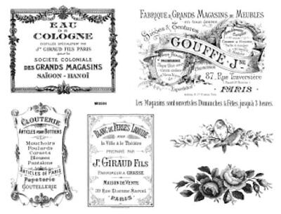 Vintage French Advertising Labels Furniture Transfers Waterslide Decals MIS584