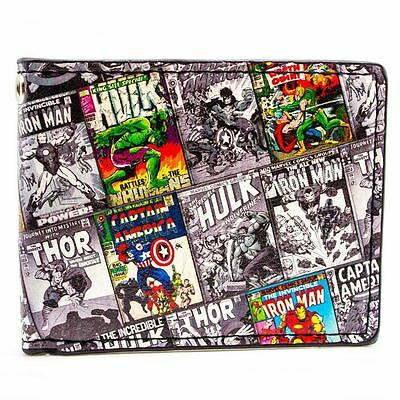 Awesome Marvel Characters Retro Comics Bi-Fold Wallet