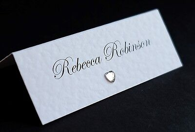 10 Handmade Personalised Wedding Place Table Cards *FREE P&P*