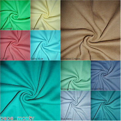 100% Cotton Interlock Jersey Fabric Tubular Width By The Meter INTT63 Free P&P