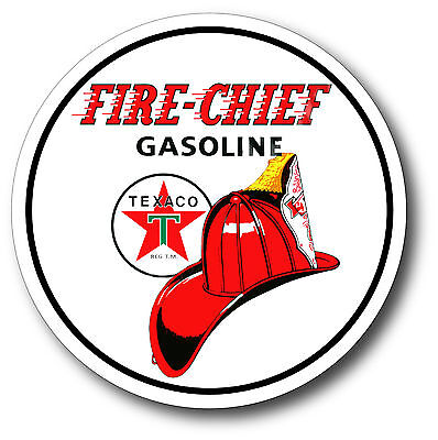 Texaco Fire Chief Gasoline Super High Gloss Outdoor 4 Inch Decal Sticker