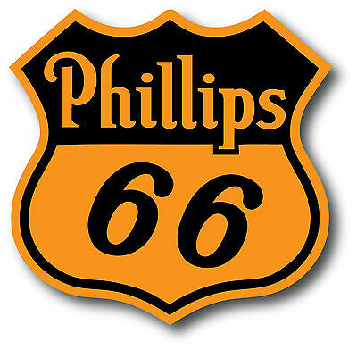 Vintage Phillips 66 Gasoline Super High Gloss Outdoor 4 Inch Decal Sticker