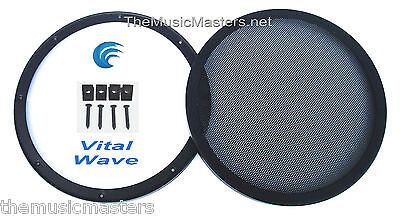 """1X 10"""" inch Sub Woofer """"Clipless"""" Fine Mesh GRILL Speaker Protective Cover VWLTW"""