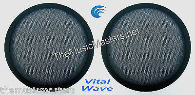 """2X 10"""" inch Sub Woofer """"Clipless"""" Fine Mesh GRILL Speaker Protective Cover VWLTW"""