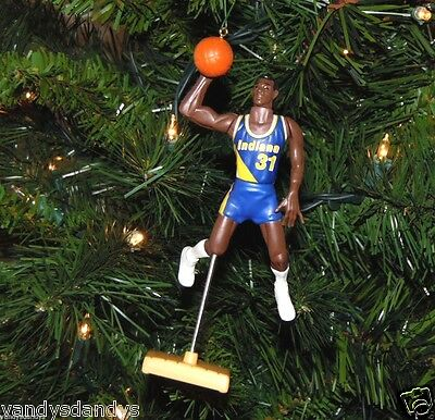 reggie MILLER indiana PACERS basketball NBA xmas TREE ornament HOLIDAY jersey