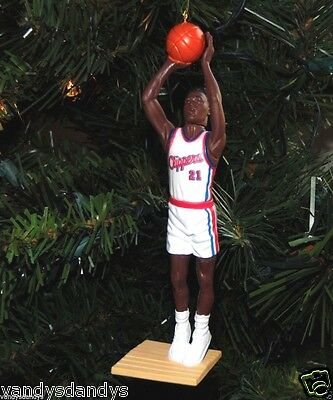 dominique WILKINS la CLIPPERS nba BASKETBALL xmas ornament HOLIDAY vtg JERSEY 21