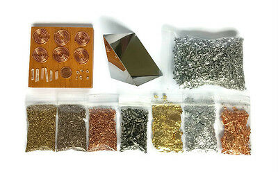 Orgone Organite Supplies Kit with Pyramid Mold Metals Coils Crystals