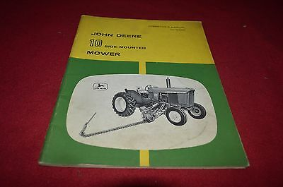 John Deere 10 Side Mounted Mower Operator's Manual YABE8