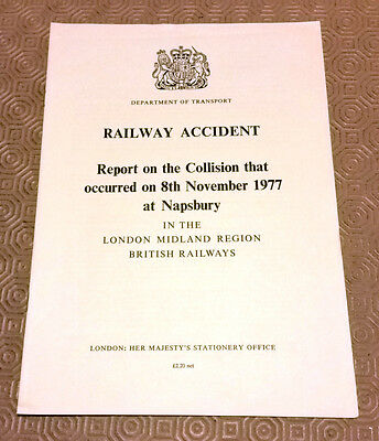 Railway Accident Report Collision Class 127 DMUs Napsbury 8th November 1977 (2)